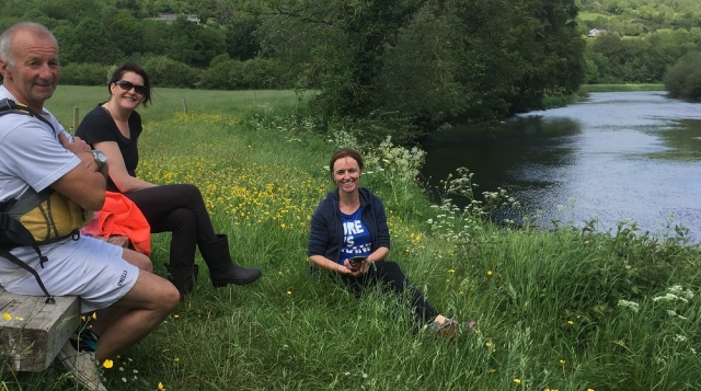Kilkenny Eco Tours taking a break along the River Nore