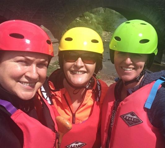 3 smiling Kilkenny Eco Tours participants